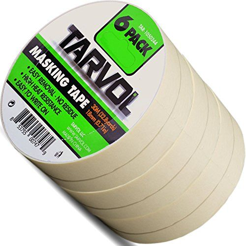 Masking Tape Huge Pack Of 6 Each Roll Is X 33 Yards Approved For Interior Or Exterior Use Easy To Write On Perfect For All Paint Projects