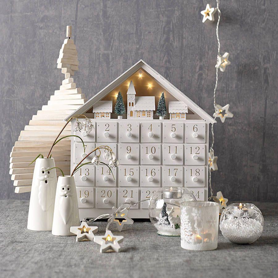 Snowy Christmas Village Wooden Advent Calendar By Ella James Wooden Advent Calendar Diy Advent Calendar Advent Calendar House