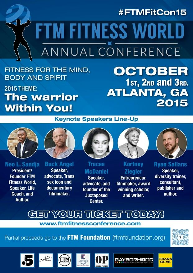Keynote speakers lineup #FTMFitCon15! Trans Conference