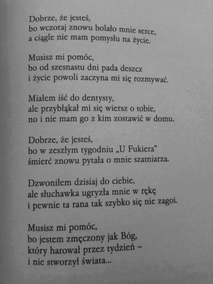 Dobrze Ze Jestes Jaroslaw Borszewicz Poems Quotations More Words