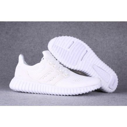 c2381938242840 Mens Adidas Ultra Boost All White Yeezy Beckham Spring Summer - Adidas