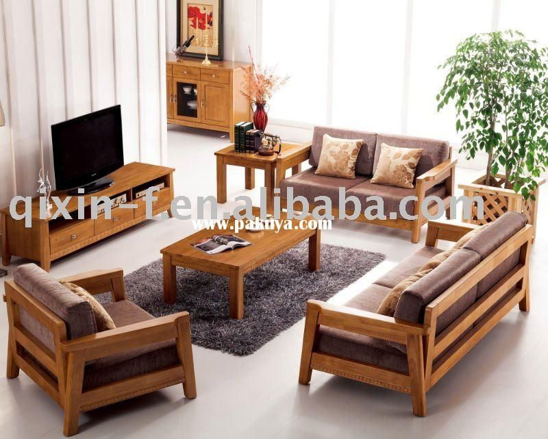 wooden living room sofa F001 2 Living Room Furniture Pinte