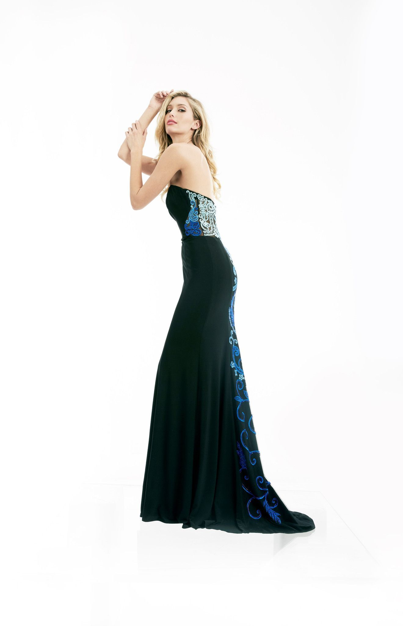 Jasz couture blackblue strapless prom dress products