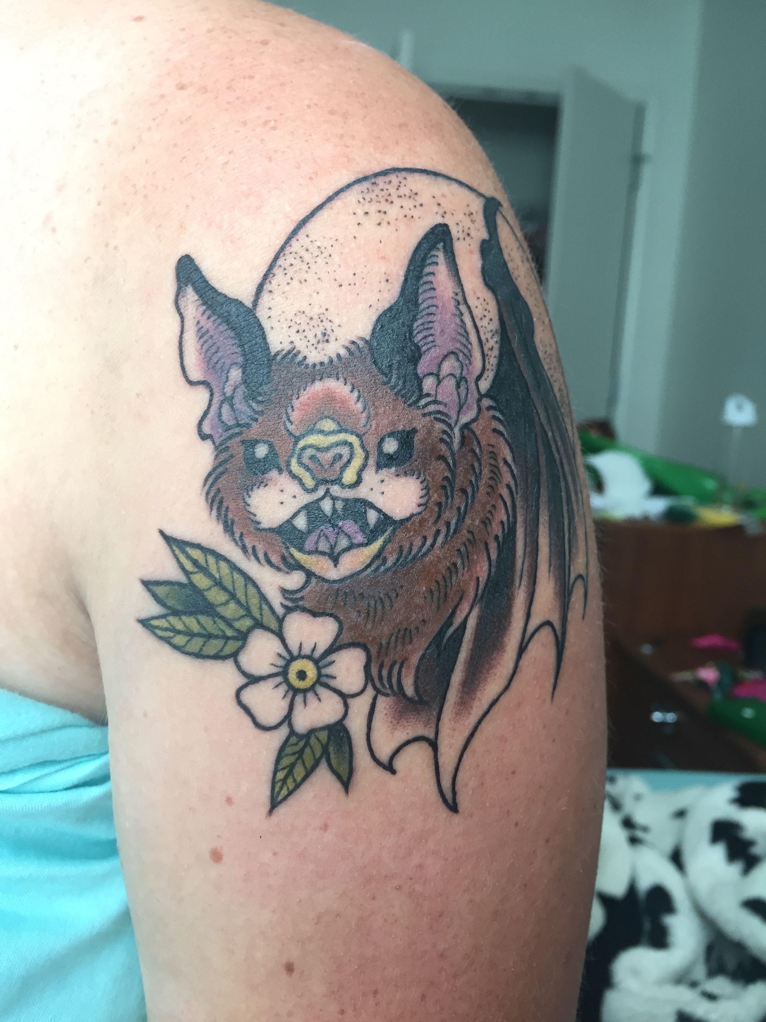 Bat tattoo from affinity tattoo in austin tattoos