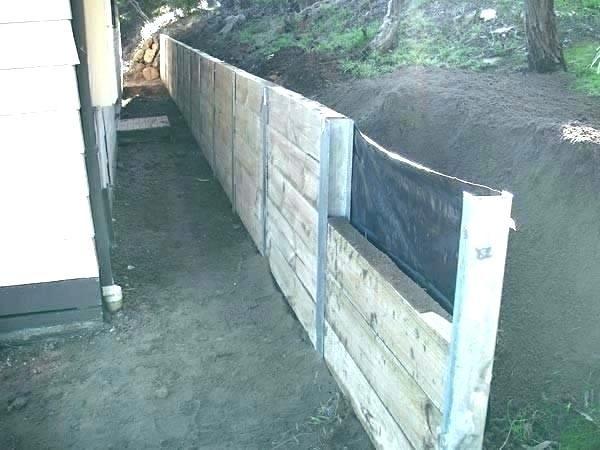 Inexpensive Retaining Wall Ideas Cheap Retaining Wall Driveway Ideas Wooden Garden Sleepe Landscaping Retaining Walls Wood Retaining Wall Garden Retaining Wall
