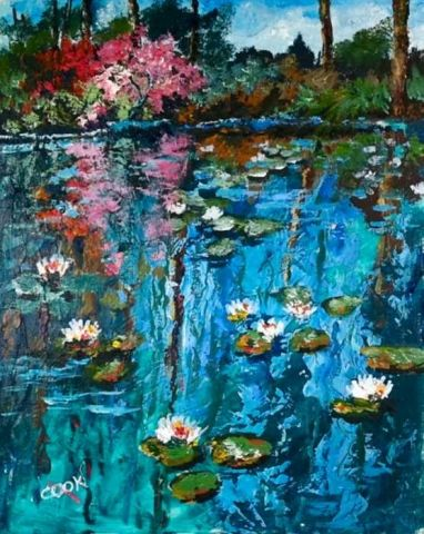 Gallery Acrylic Painting Lessons For Beginners To Advanced Artists Impasto Painting Monet Water Lilies Acrylic Painting Lessons