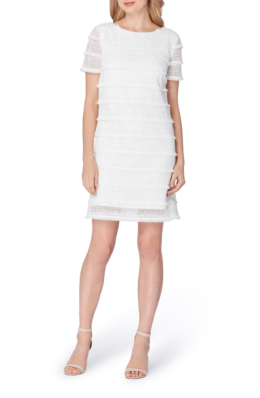 Tahari Fringe Lace Shift Dress Regular Petite Nordstrom Lace Shift Dress Cocktail Dress Lace White Lace Cocktail Dress [ 3000 x 1956 Pixel ]