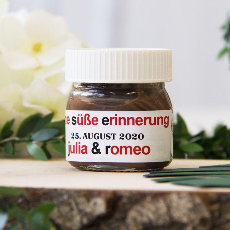 Gastgeschenk Hochzeit Mini Nutella Glas Personalisiert Mini Nutella Glas Nutella Produkte Nutella Glaser