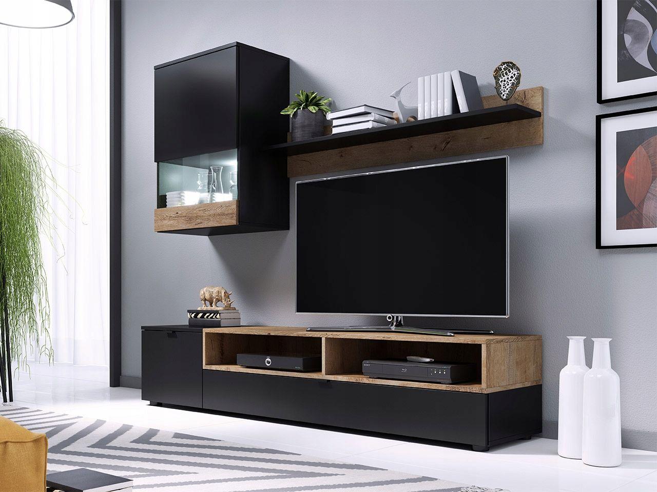 Meble Zestaw Mebli Nowoczesna Mebloscianka Pat Modern Square Coffee Table Living Room Decor Home Decor