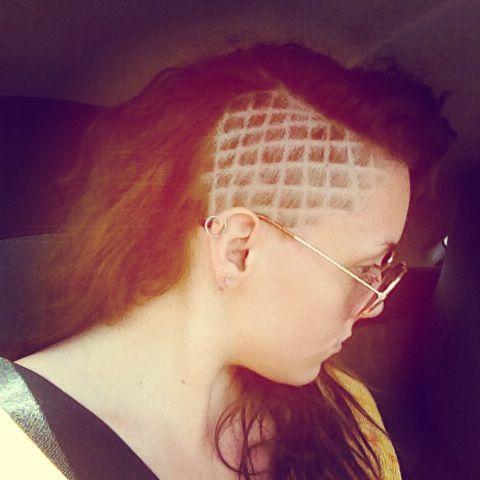 Diamond Pattern Half Shaved Hair Cap Coiffure Coiffure