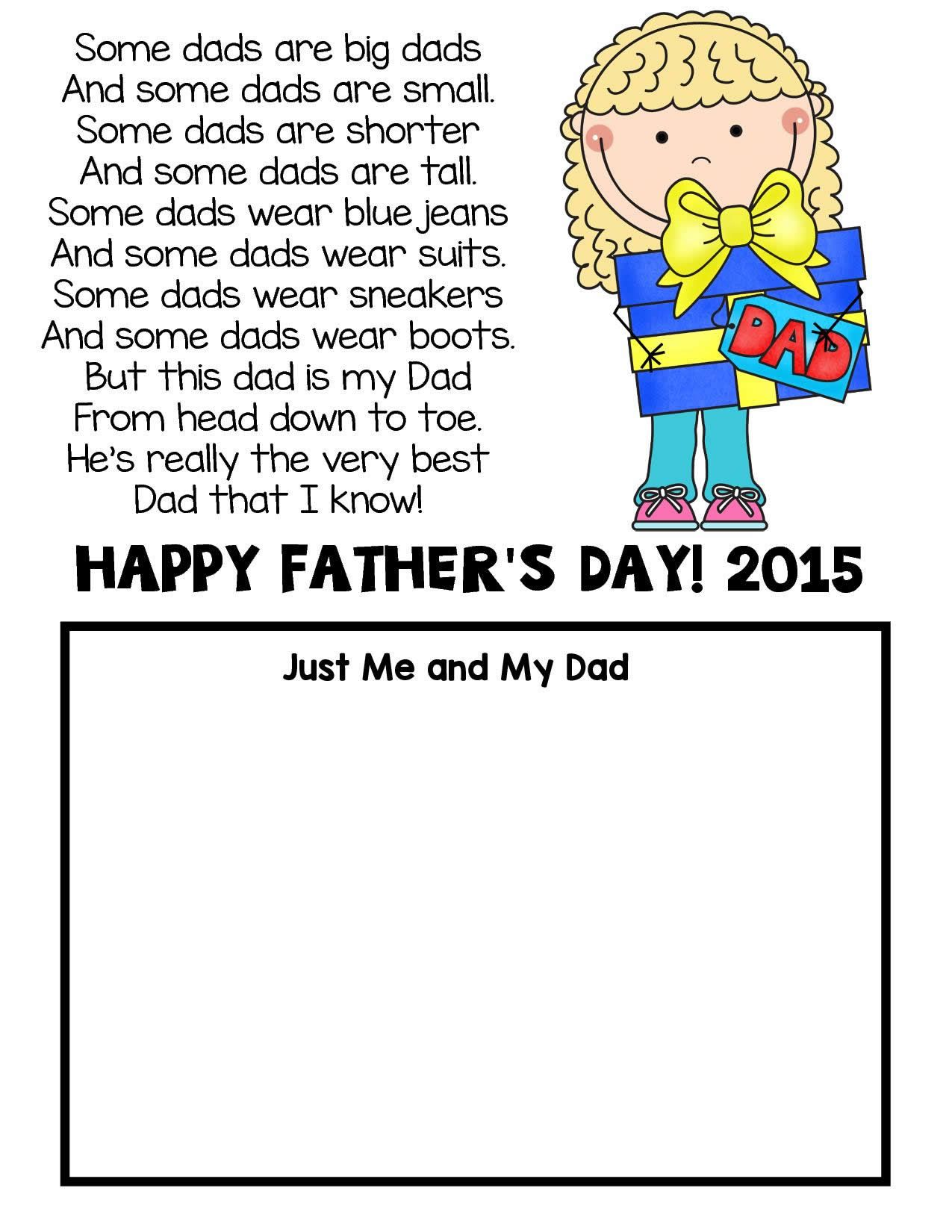 Freebie Freebie Father S Day Poem And Card This Father
