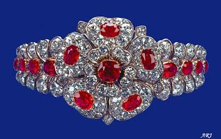 Artemisia's Royal Jewels:                                                     HM The Queen's The County of Cornwall Ruby and Diamond bracelet