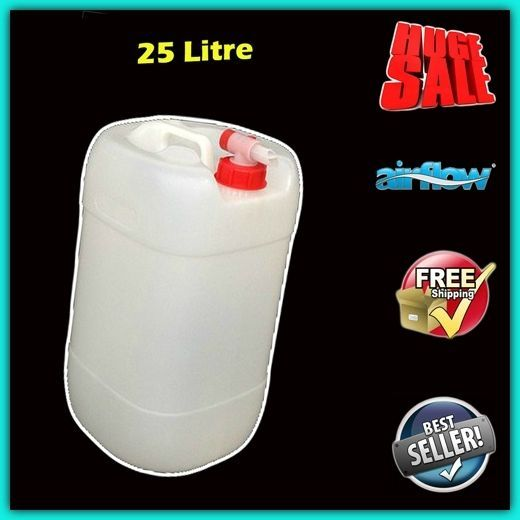 Plastic Water Tank Carrier Jerry Bottle Food Grade Storage Container Airflow Tap With Images Storage Containers Water Tank Container