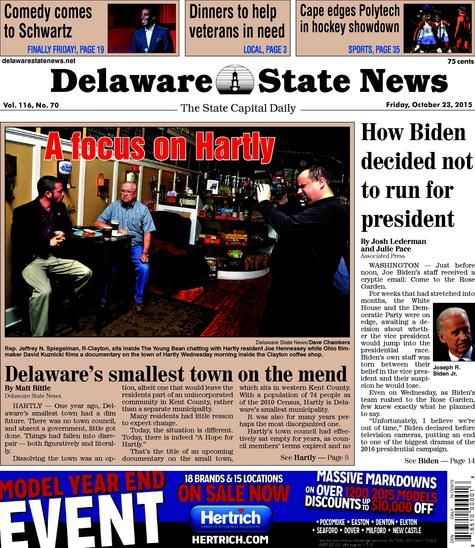 Delaware State News front page   Interesting News Articles