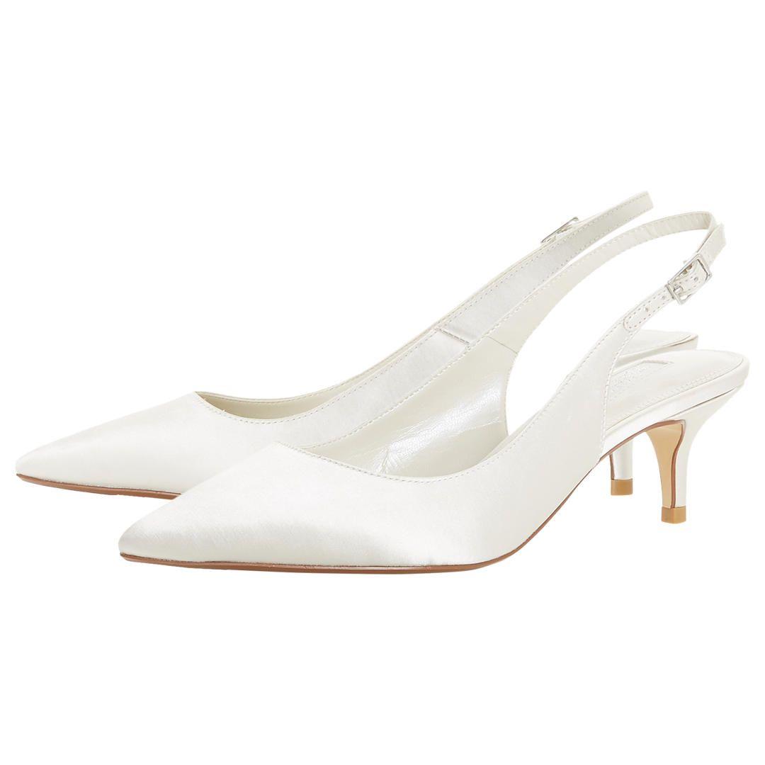 811b190e8b6 BuyDune Bridal Casandraa Kitten Heel Slingback Court Shoes
