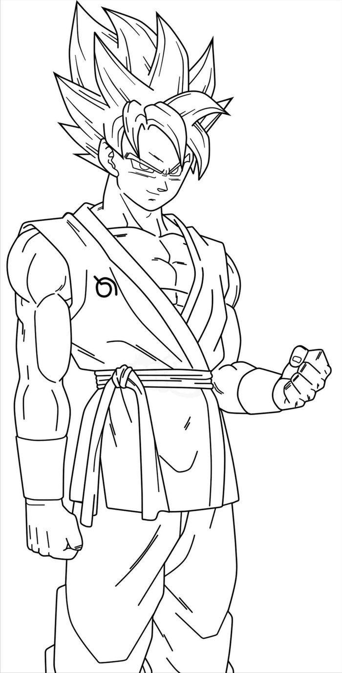 Super Saiyan God Goku Coloring Pages Goku Super Saiyan Blue Cartoon Coloring Pages Goku