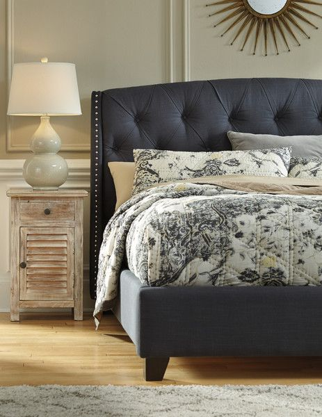 You Ll Start Embracing Your Monday Blues Once You Have This Bed To Snuggle In The Kasidon By Ashley Furni Home Decor Bedroom Grey Upholstered Bed Home Decor