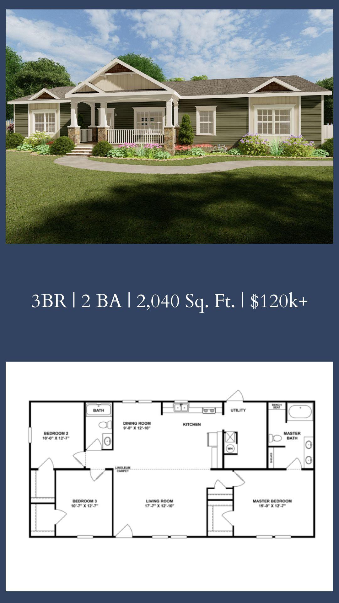 Click For 3d Tour Super 68 27spd32683ah Modular Home Plans Home Building Tips Mobile Home Floor Plans