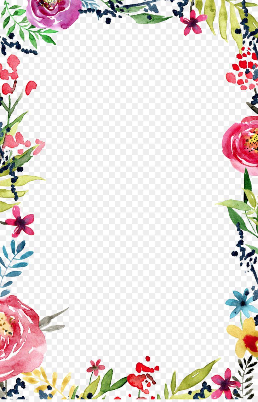 Wedding Invitation Flower Borders And Frames Template Clip Art Wedding Invitation Unlimited Download Flower Border Floral Border Design Flower Invitation