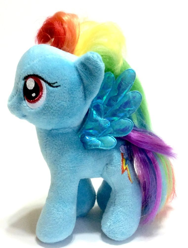 Ty My Little Pony Rainbow Dash Plush Toy Doll 7 inch MLP Blue Irridescent  Wings… 7a6d43aff8ef