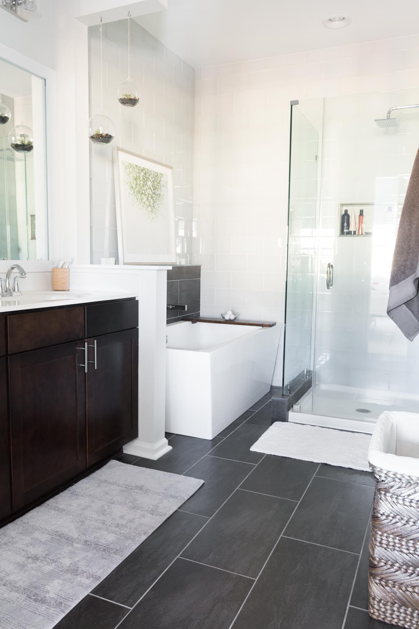 Modern Master Bathroom The Final One Room Challenge Reveal Modern Master Bathroom Master Bathroom Design Master Bathroom