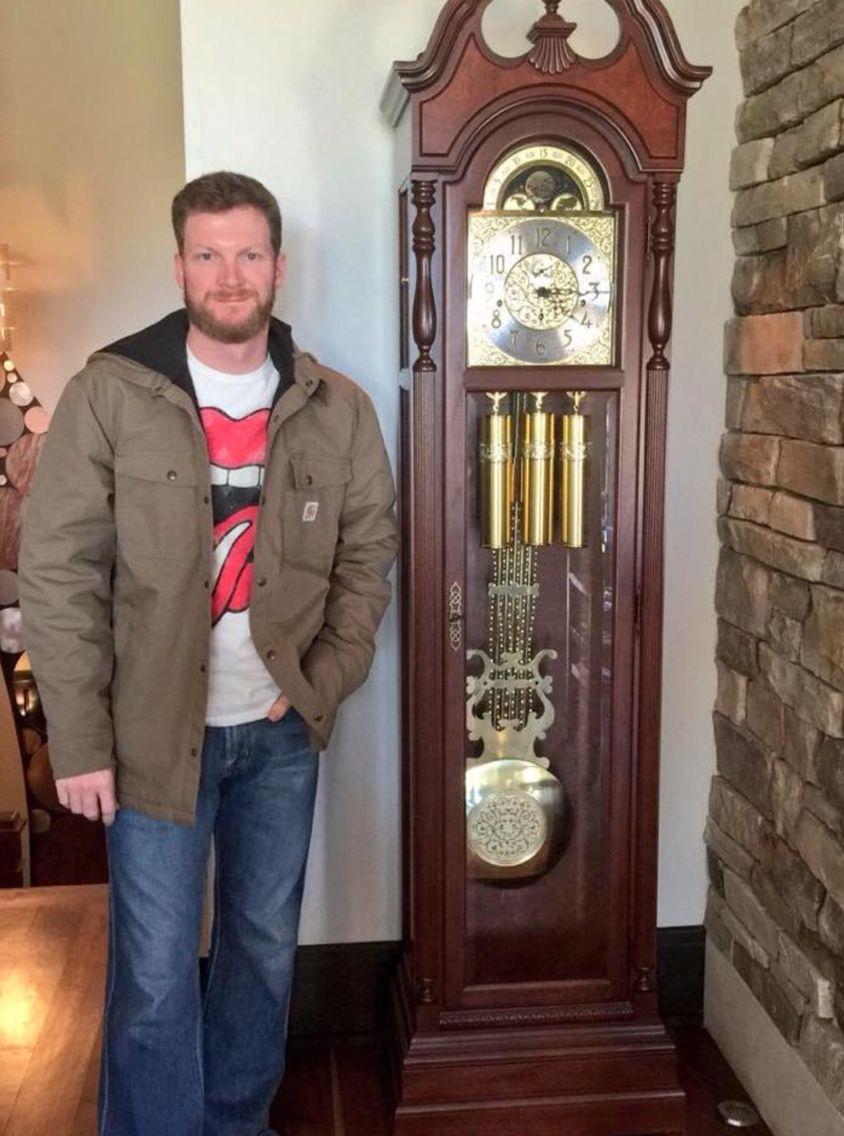Martinsville Grandfather Clock Is Home Where It Belongs Dale Ya Dale Earnhardt Jr Earnhardt Jr Dale Earnhart Jr