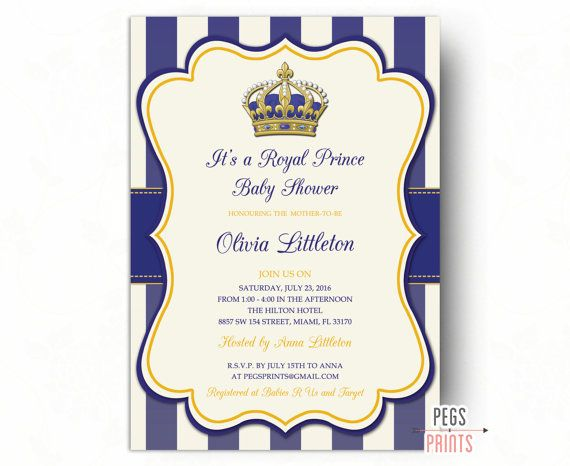 royal prince baby shower invitations - little prince baby shower, Baby shower invitations