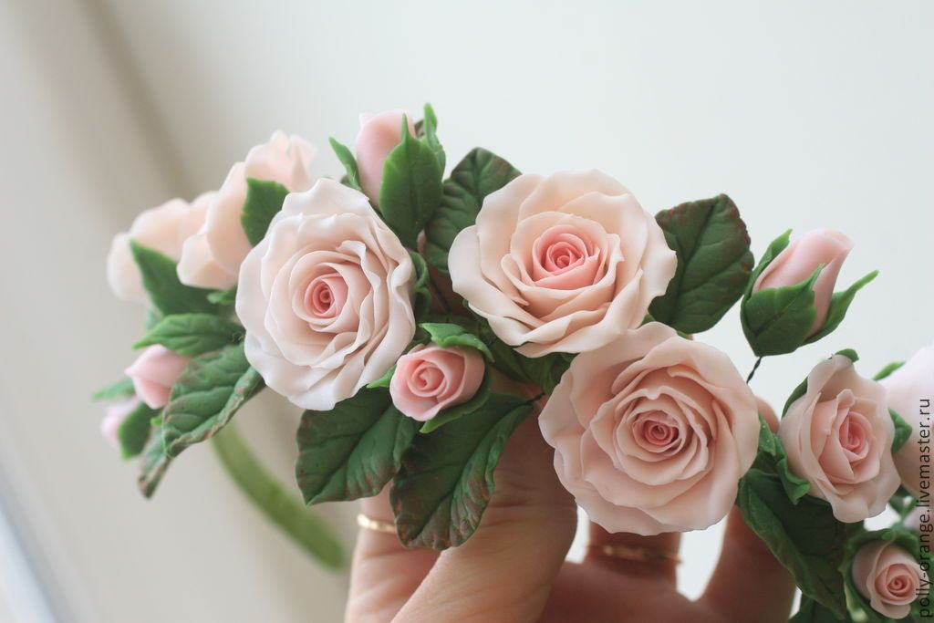 приготовить цветы из глины с картинками разу пришлось упрашивать