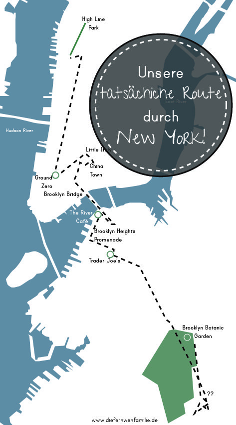 Mit dem Mietwagen quer durch die USA -Teil 2 - unsere tatsächliche Route durch New York-www.diefernwehfamilie.de