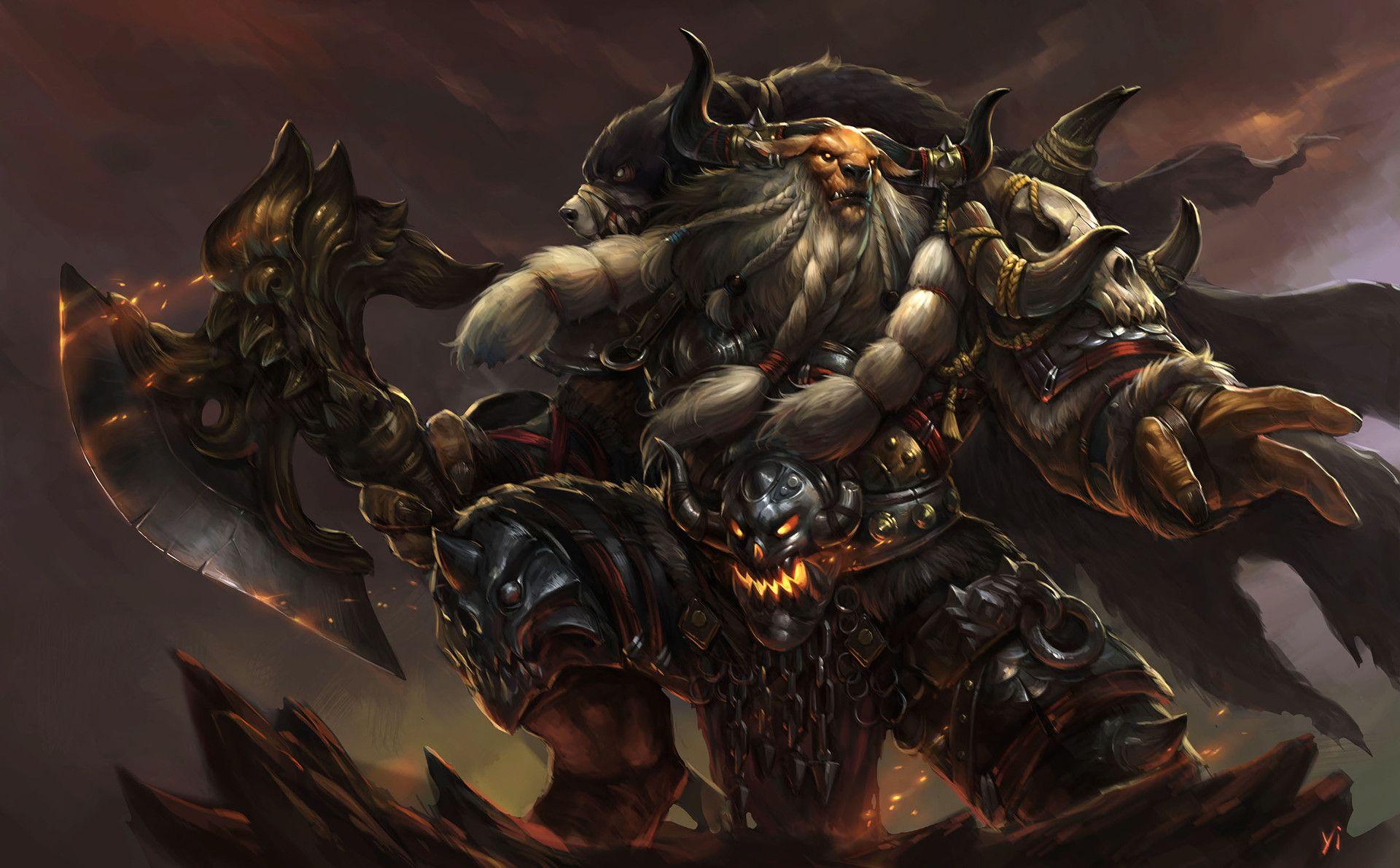 Artstation tauren yi xu animal warrior character