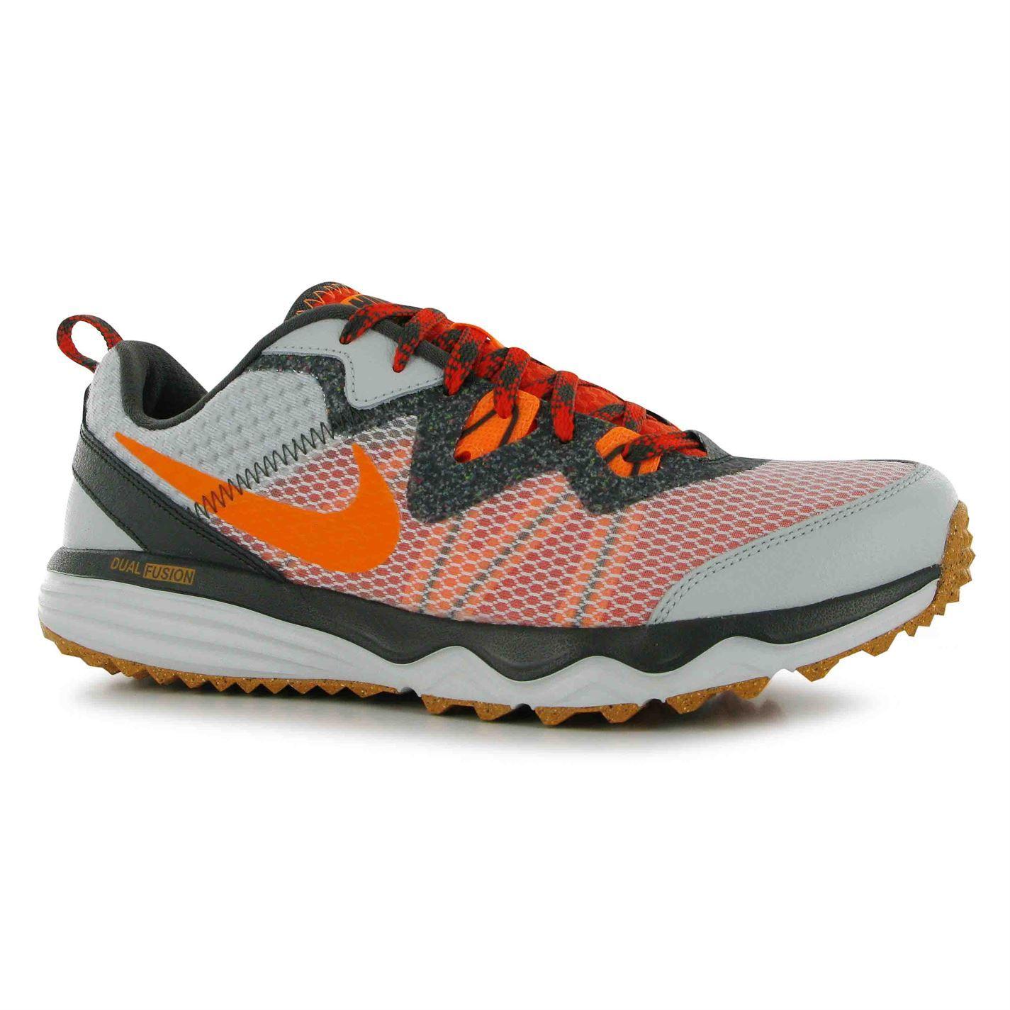 Nike Dual Fusion Men's Trail Running Shoes Grey/Orange