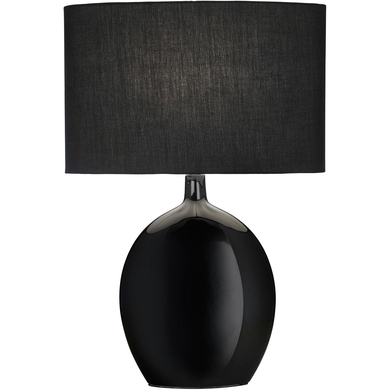 Black Table Lamps Lamp, Black lampshade, Bedroom decor