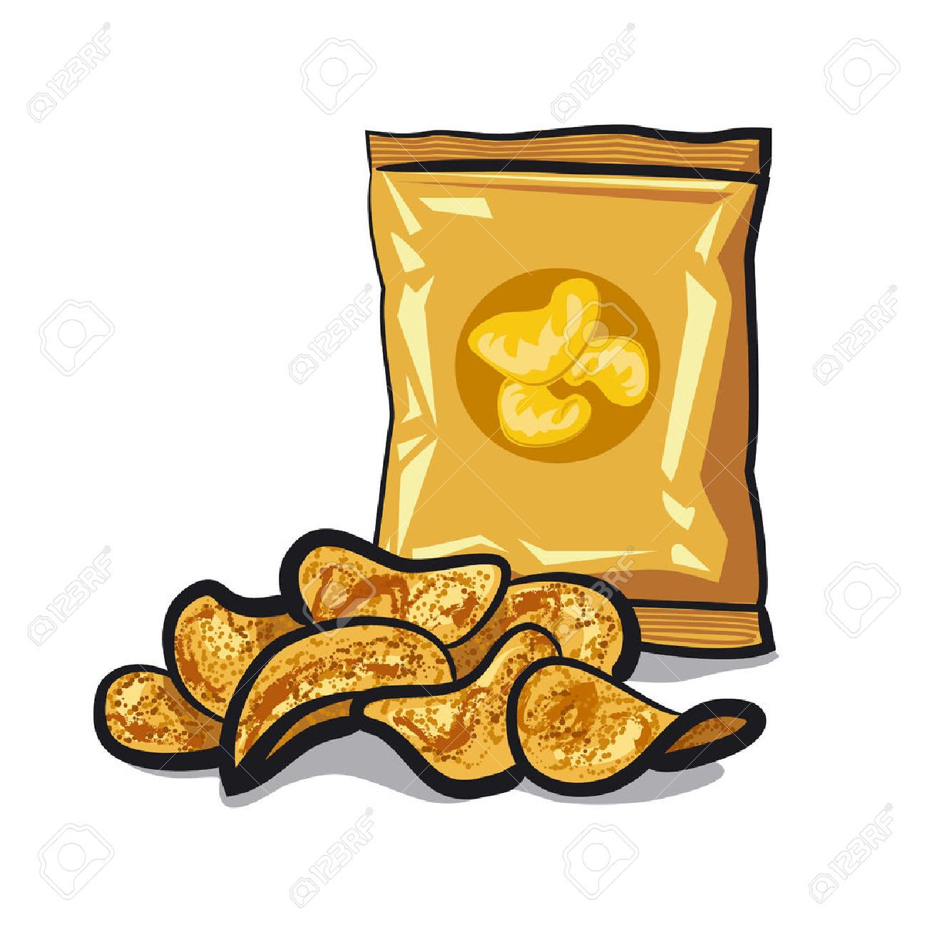 Image result for chips clipart | Card art, Potato chips, Chips