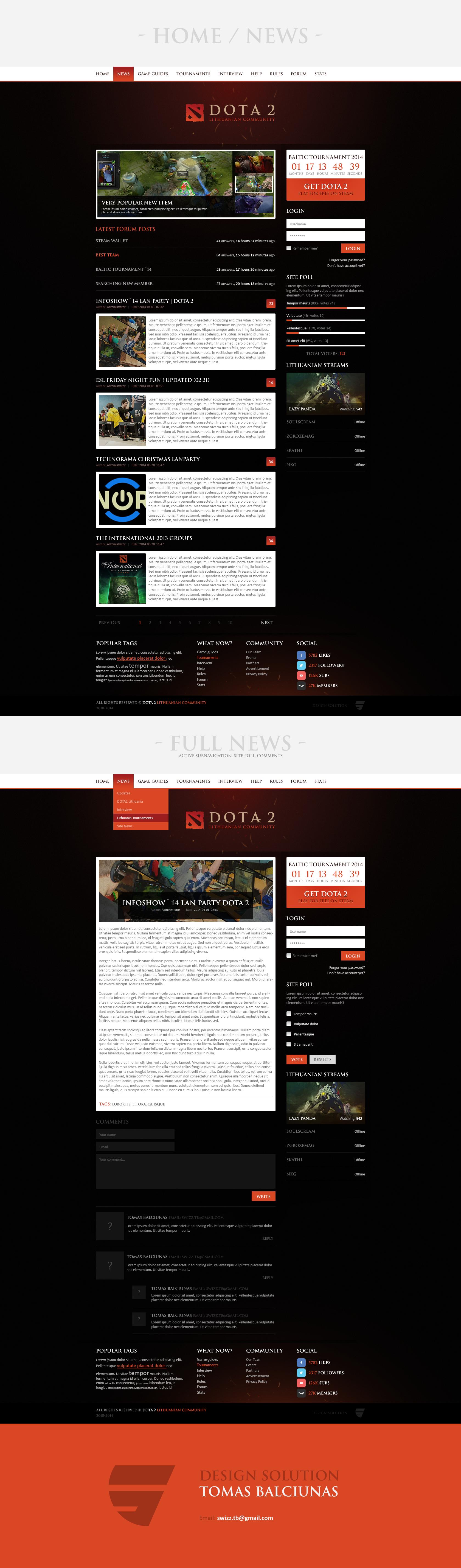 DOTA 2 Community Website * FOR SALE by Swizz1 | IDEIAS | Pinterest ...
