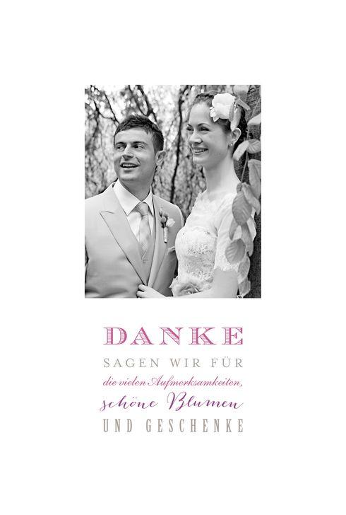 Dankeskarte Hochzeit Der schönste Tag (2 Fotos) by Marion Bizet ...