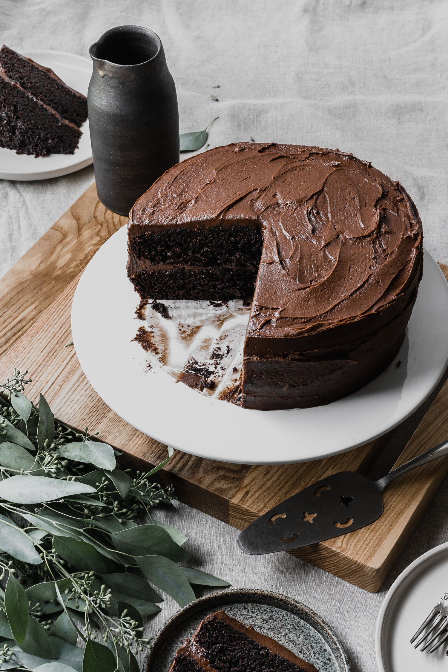 Gluten Free Chocolate Cake The Only Podge Recipe In 2020 Gluten Free Chocolate Cake Sour Cream Recipes Chocolate Fudge Icing