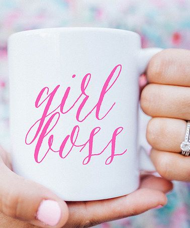 e75bfb8f1d8 Pink 'Girl Boss' Mug #zulily #zulilyfinds | Projects to Try ...