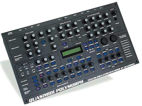 quasimidi polymorph multitimbral synthesizer with lots of knobs early 39 analog emulation. Black Bedroom Furniture Sets. Home Design Ideas