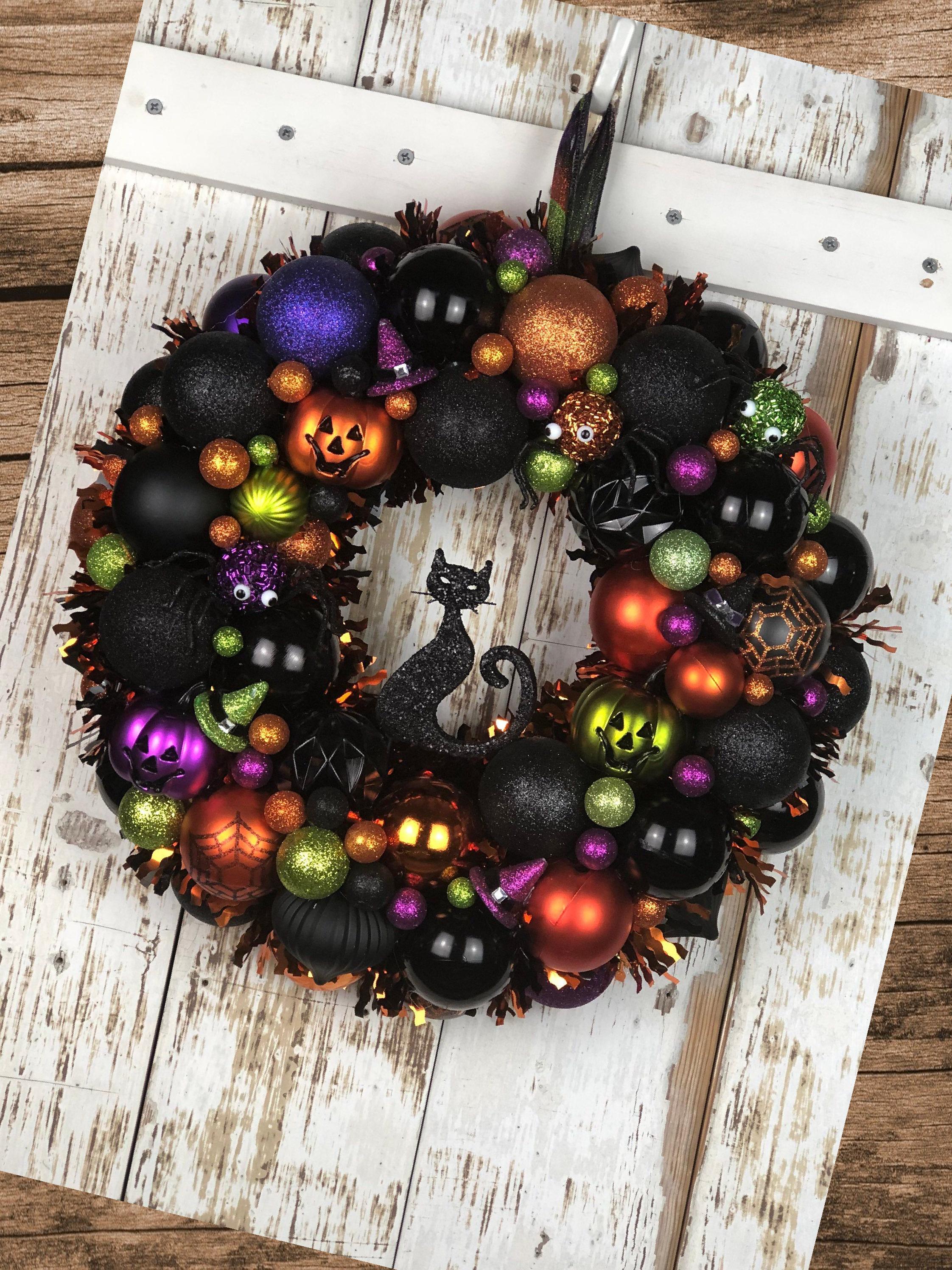 41 Halloween Wreath Ideas Halloween Wreath Diy Dollar Stores Diy Halloween Wreat Halloween Decorations Halloween Ornament Wreath Diy Halloween Decorations