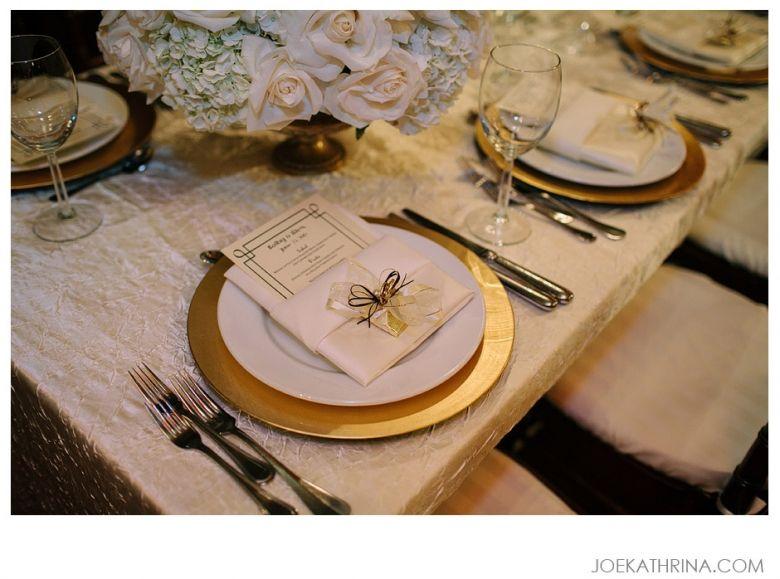 Cicada los angeles wedding alex kathy gold chargers