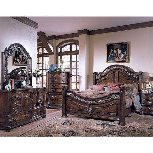 San Marino Dark Brown King 7 Piece Bedroom Set | Bedroom ...