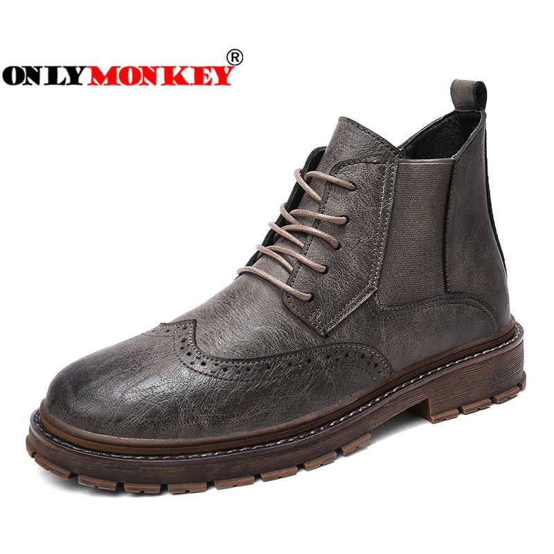 ONLYMONKEY Men Leather Hiking Shoes Waterproof Shoes Men Outdoor High  Quality Sport Hiking Shoes Men Boots 1ce4750df