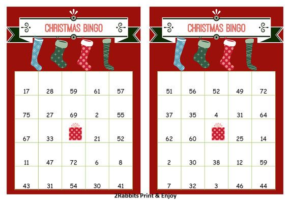 image about Christmas Bingo Free Printable called Xmas Bingo Playing cards With Figures Xmas Playing cards