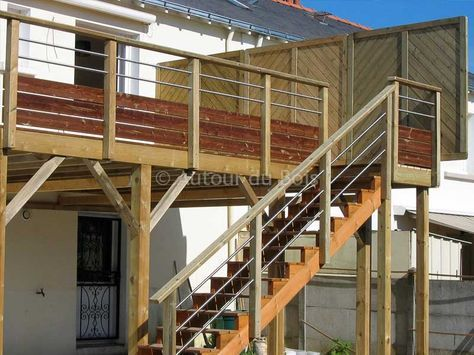 Construire une terrasse bois sur pilotis Wood working Pinterest