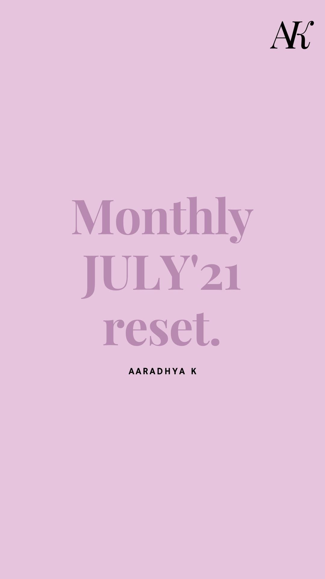 MONTHLY JULY RESET resource <3
