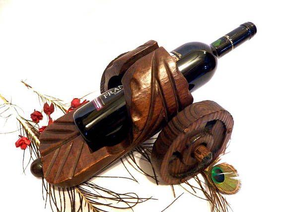 Reserved cart bottle rack wine holder old cart bottle - Botellero de madera para vino ...