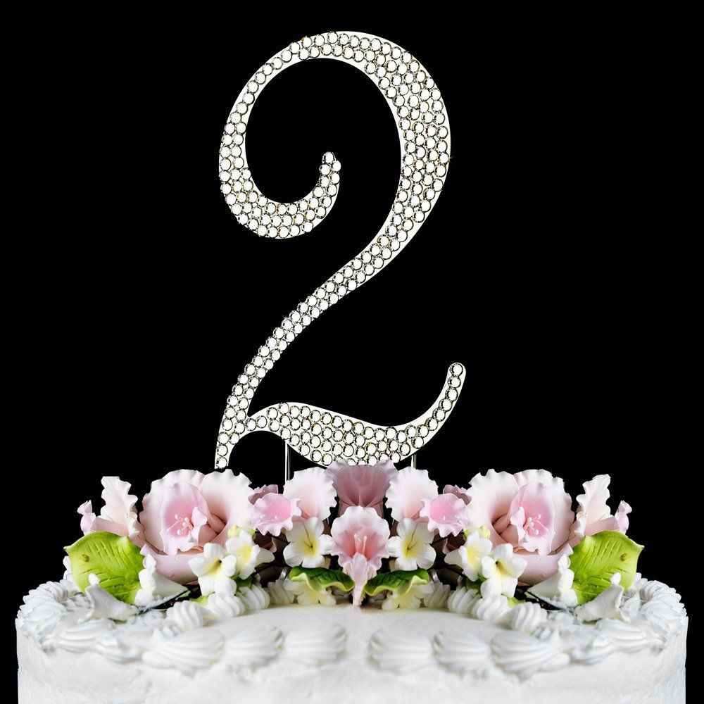 Rhinestone Cake Topper Number 2 ** Sensational bargains just a click away : Baking decorations