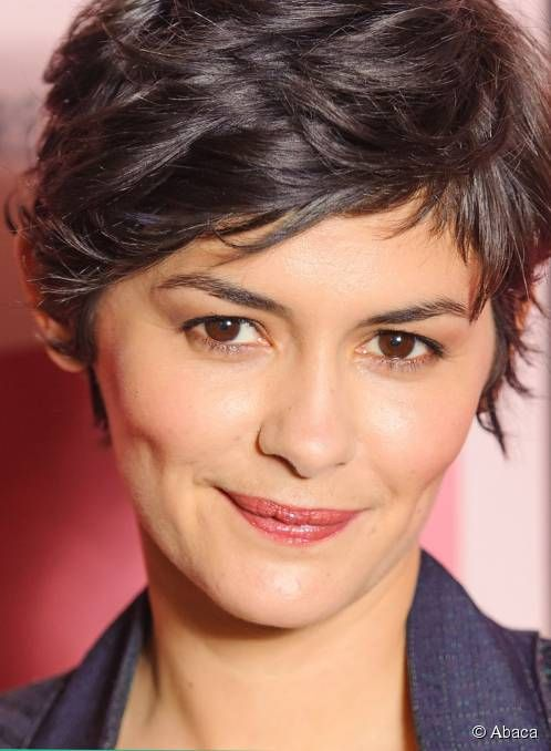 Showing Audrey Tautou Makeup Tutorial Audrey Tautou Short Hair Styles Hairstyle