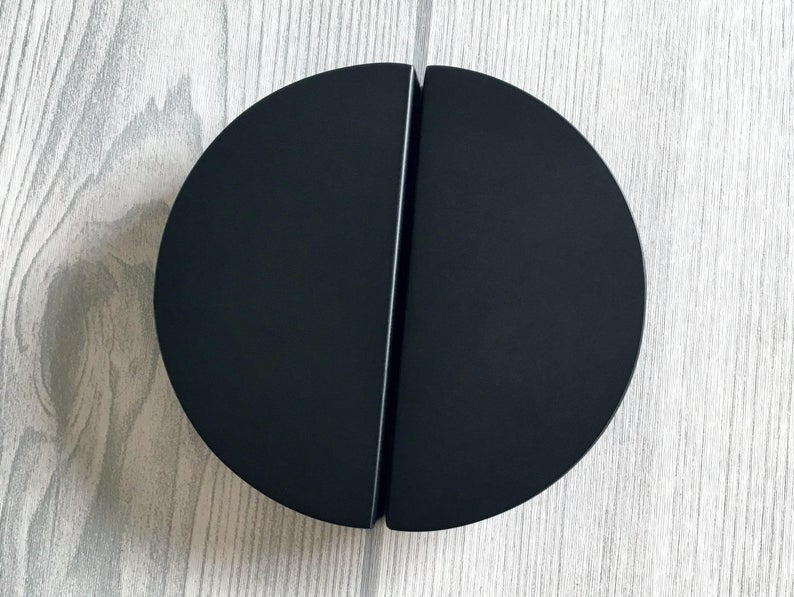 2 1 2 C C Matt Black Drawer Pulls Half Moon Semicircle Handles 2 5 Dresser Pull Handle Semicircular Cabinet Door Handle Lynns Hardware 64 In 2021 Black Drawer Pulls Drawer Pulls Black Drawers