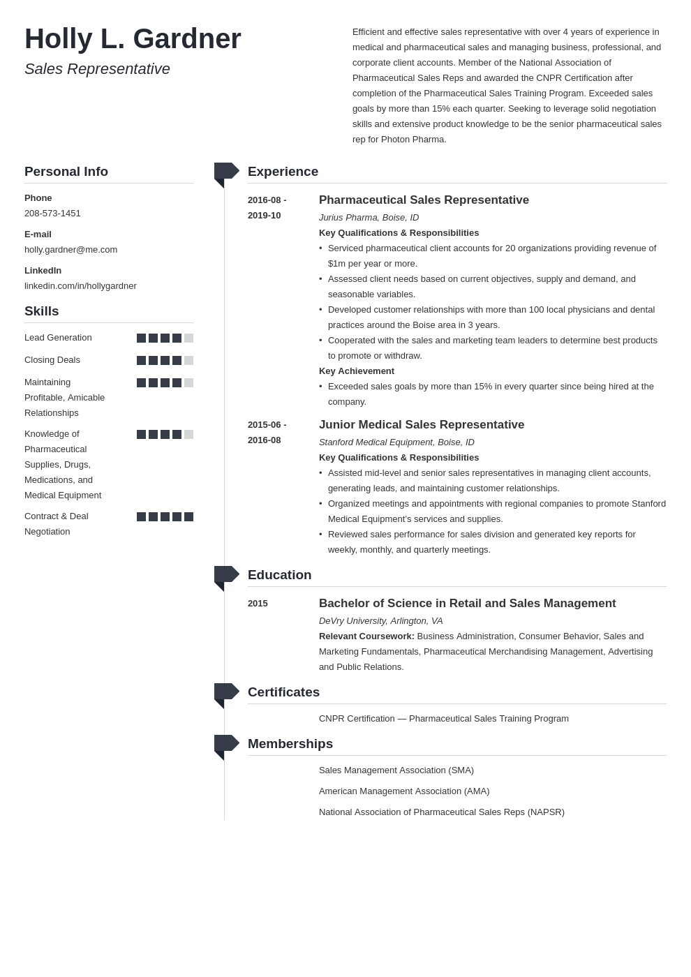 sales representative resume example template muse in 2020